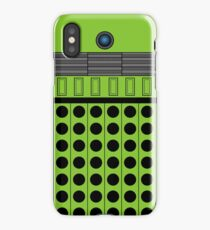 Not a robot. Green. Inspired by Daleks. iPhone Case/Skin