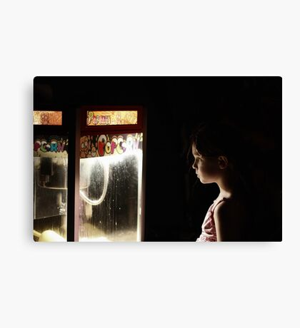 Waiting for Popcorn Canvas Print