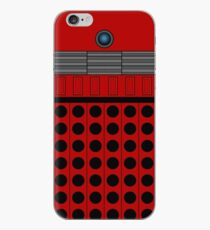 Not a robot. Red. Inspired by Daleks. iPhone Case