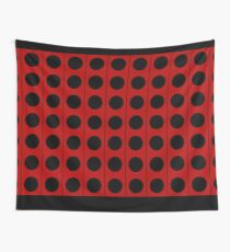 Not a robot. Red. Inspired by Daleks. Wall Tapestry