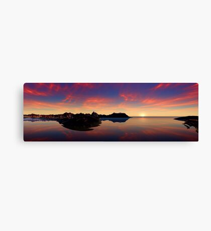 Sunset on my Sea of Dreams Canvas Print