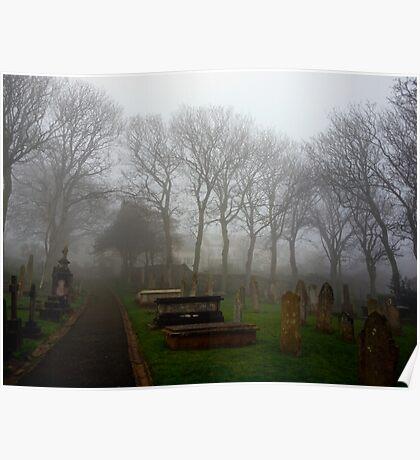 Alderney's Graveyard in the Fog Poster