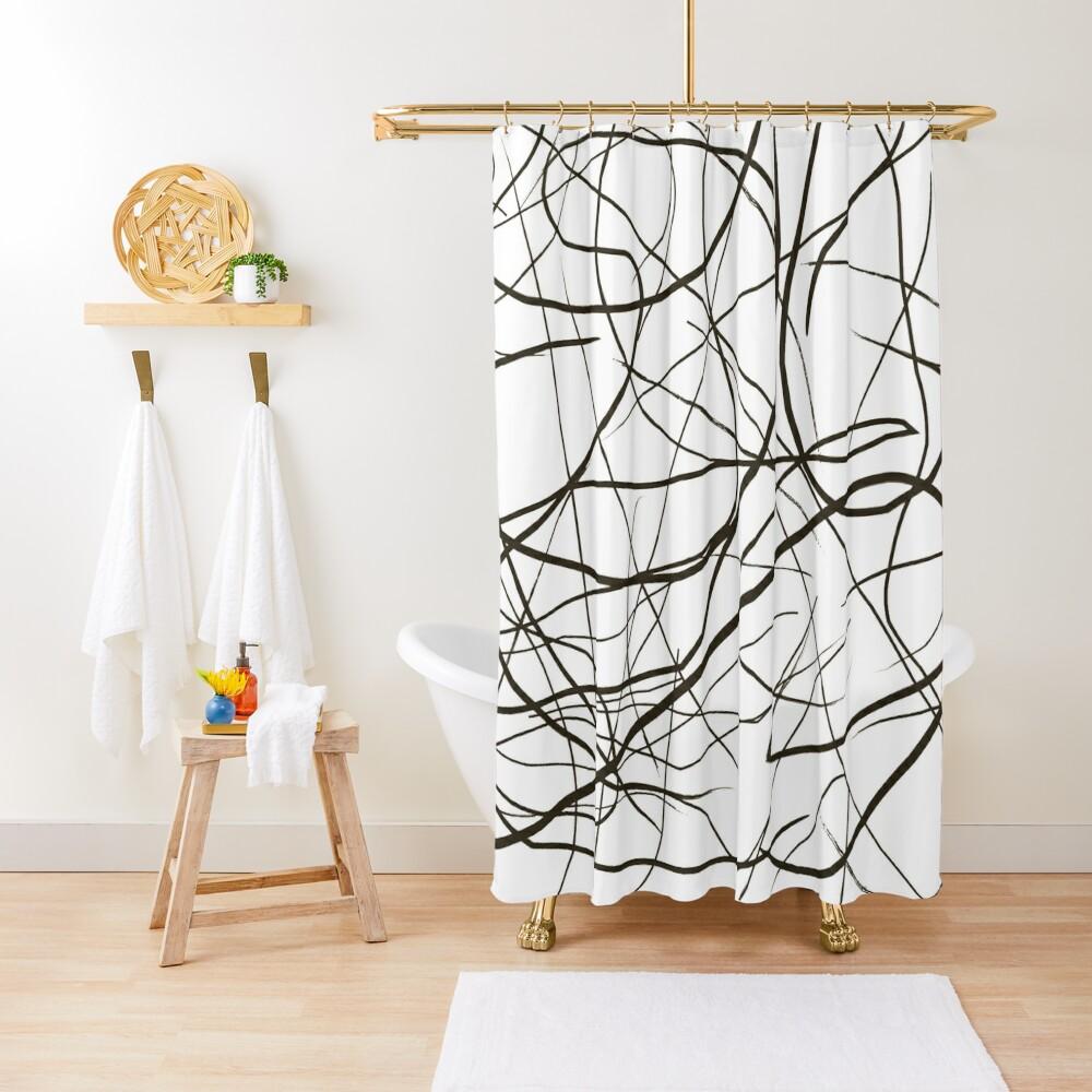 Line Art Shower Curtain