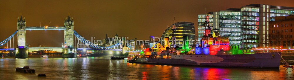 Tower Bridge and HMS Belfast - HDR by Colin  Williams Photography