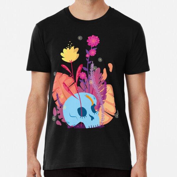 Flower skull T-shirt premium