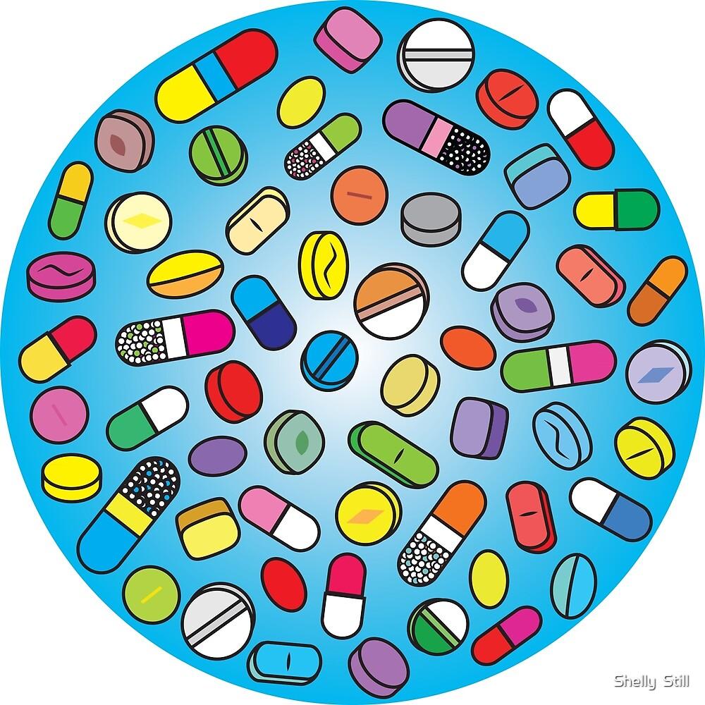 Drugs n Pills Baby Blue by Shelly Still