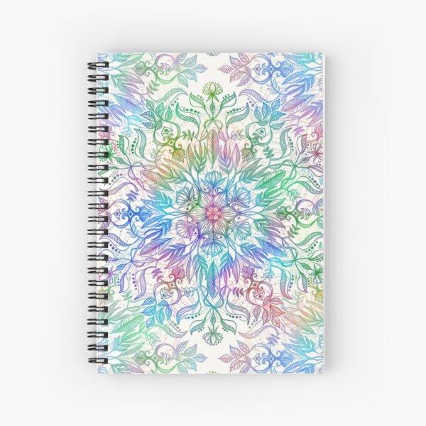 Nature Mandala in Rainbow Hues Spiral Notebook
