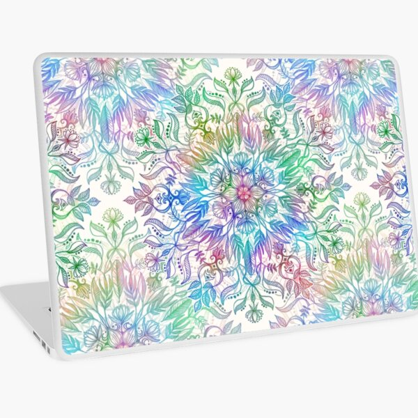 Nature Mandala in Rainbow Hues Laptop Skin
