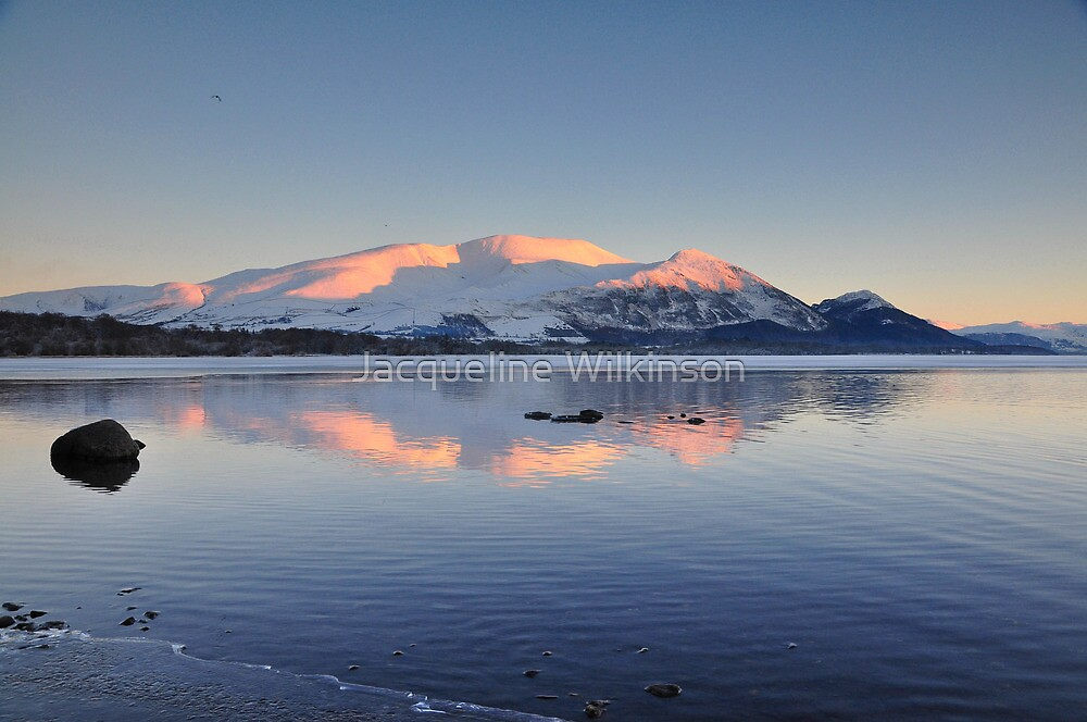 Sky Mountains and Water by Jacqueline Wilkinson