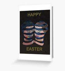 Mykonos Rose Happy Easter Greeting Card