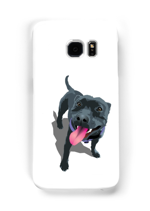 Staffy White by Bloomin'  Arty Families