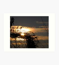 The Beautiful End of a Sunny Day Art Print