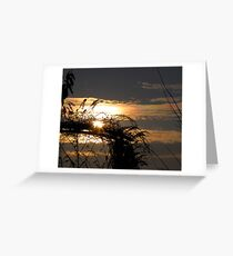 The Beautiful End of a Sunny Day Greeting Card