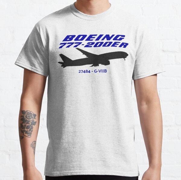 Boeing 777-200ER 27484 G-VIIB (Black Print) Classic T-Shirt