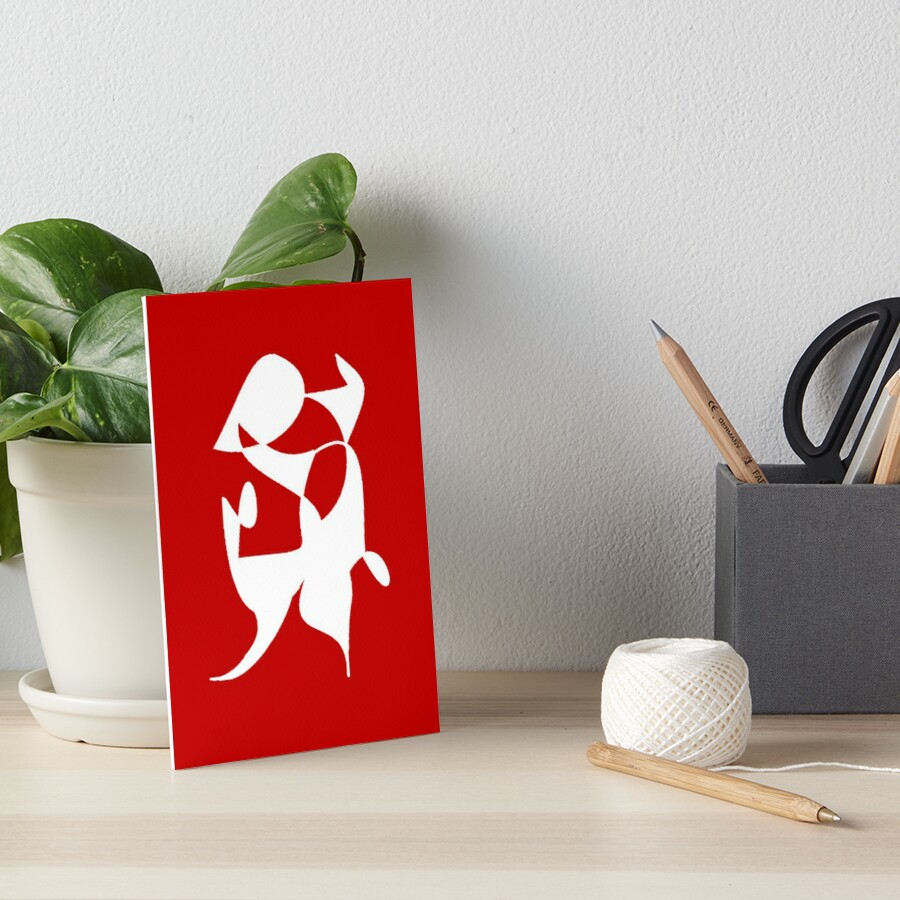 A Bull, Abstract (Designed by Just Stories) Art Board Print