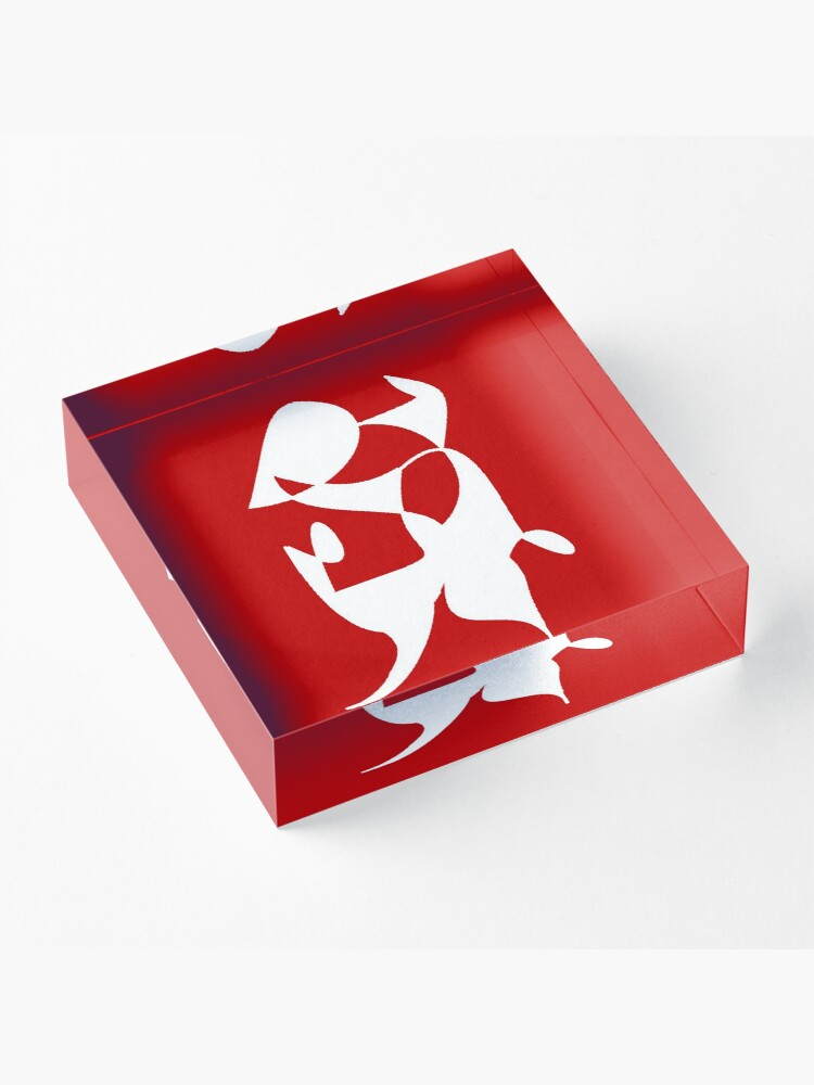 Alternate view of A Bull, Abstract (Designed by Just Stories) Acrylic Block