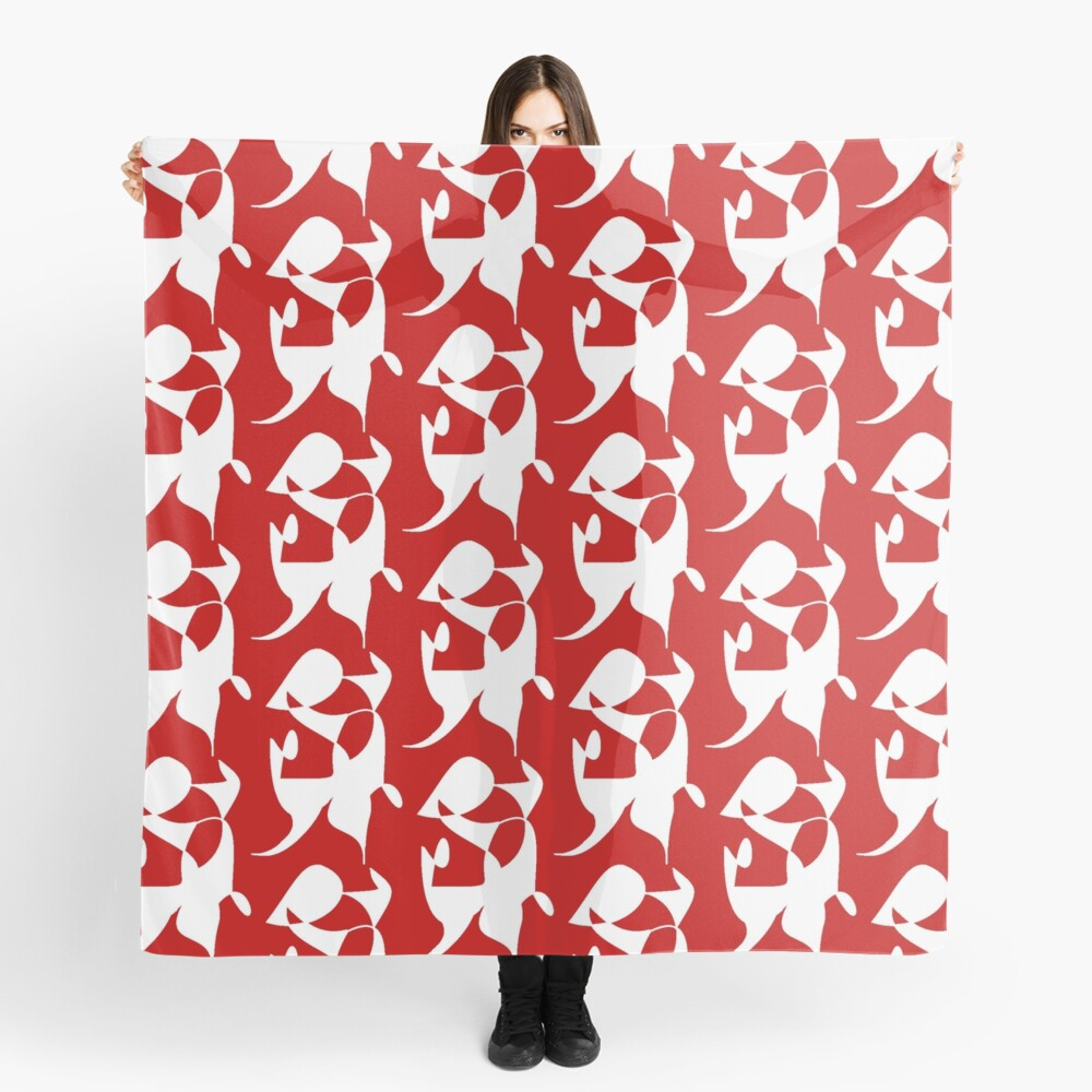 A Bull, Abstract (Designed by Just Stories) Scarf