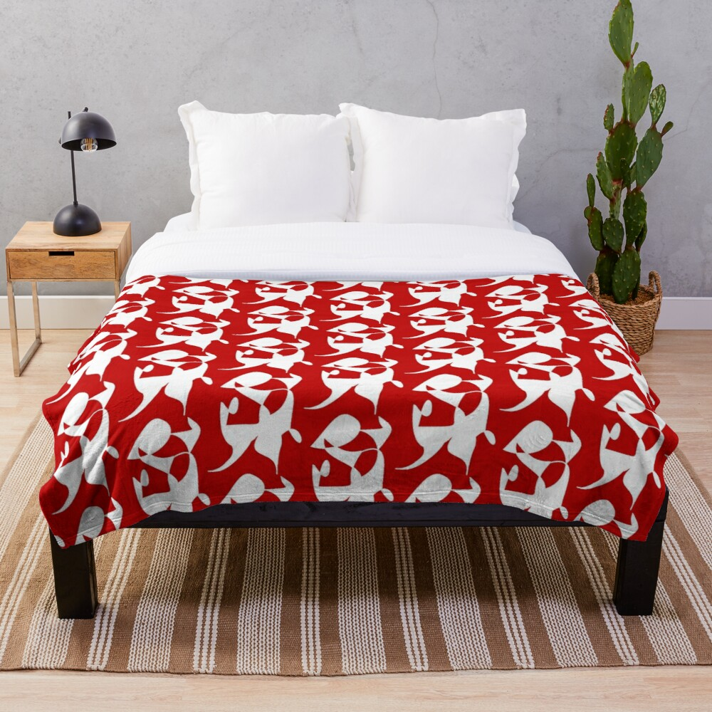 A Bull, Abstract (Designed by Just Stories) Throw Blanket