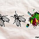Fly Wall Paper Painting  - Prints and Posters by Robert R by Robert  Erod
