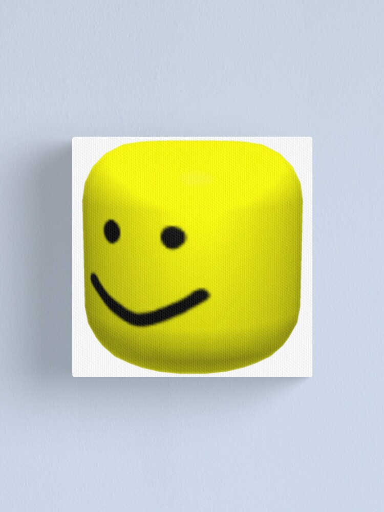 Roblox Cardboard Robot Head Roblox Oof Canvas Print By Amemestore Redbubble