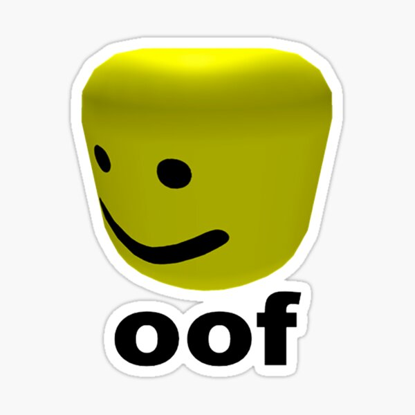 Roblox Oof Sound Wav Download Roblox Robux Hack Tutorial Oof Roblox Stickers Redbubble
