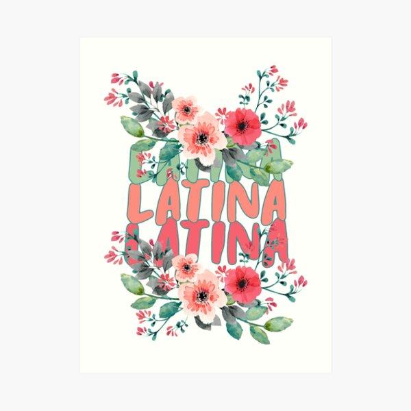 Mexico, Morena Latina Shirts - Morena Tees - Latina Designs Lámina artística