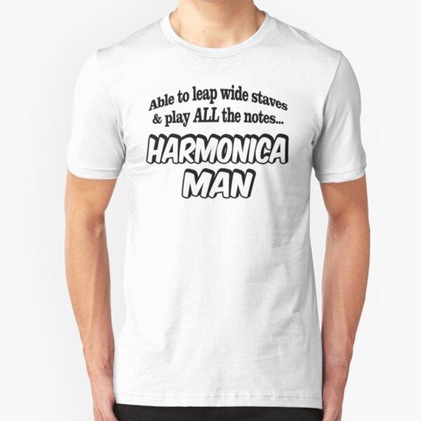 Homme Sex Drugs and Harmonica Harpe Orgue à bouche instrument Nouveauté Musique T-Shirt