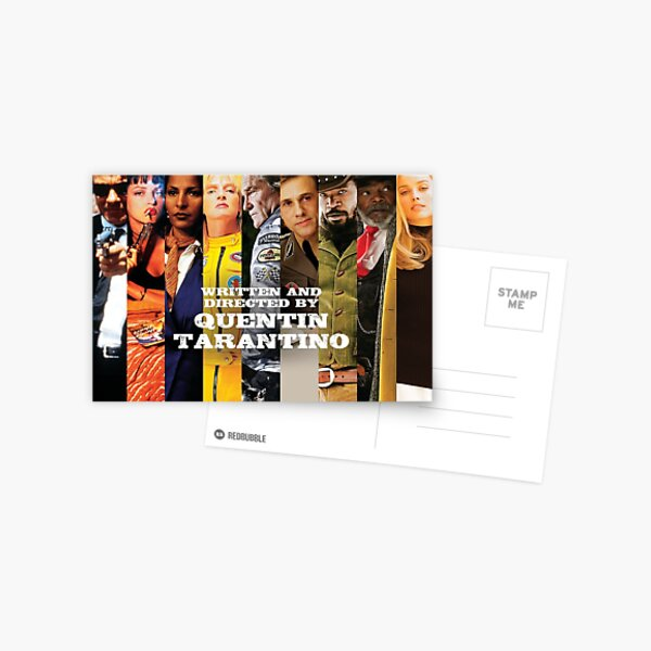Movies written and Directed by Quentin Tarantino Carte postale