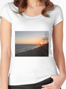 California Sunset Women's Fitted Scoop T-Shirt