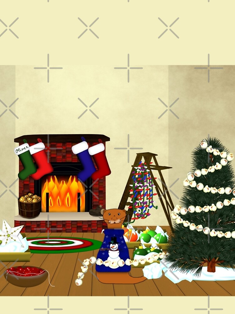 Oliver Decorates for Christmas by ButterflysAttic