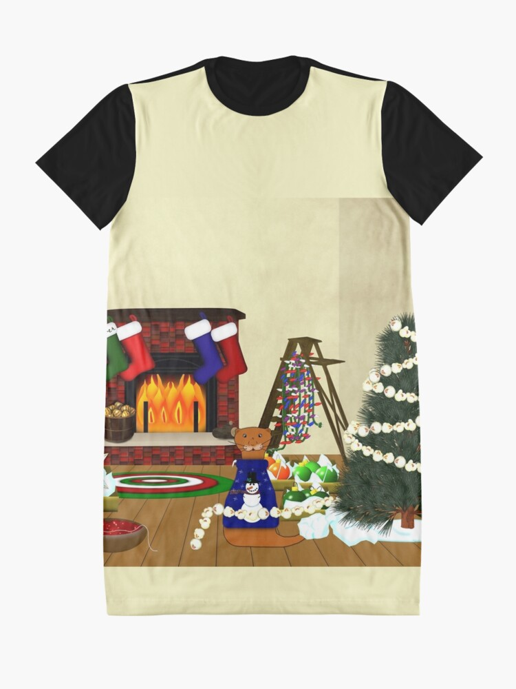 Alternate view of Oliver Decorates for Christmas Graphic T-Shirt Dress