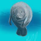 Manatee - Sketched on an iPad by Ray Cassel