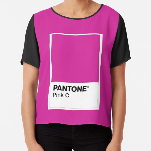 Pantone Colour Pink C Chiffon Top