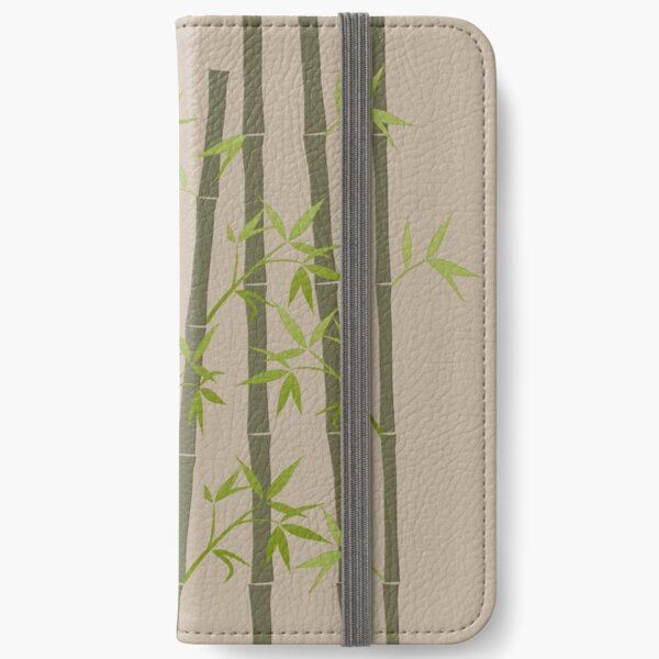 Natural Organic Bamboo Plant iPhone Wallet