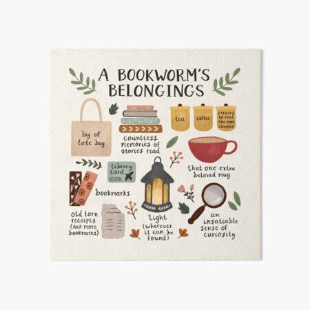A Bookworm's Belongings Art Board Print