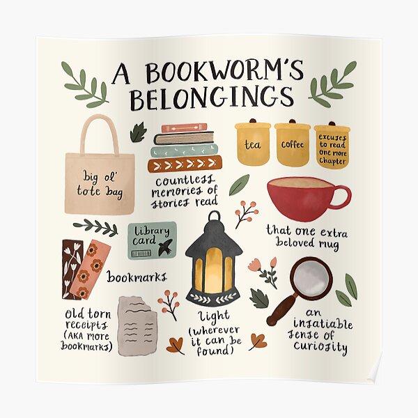 A Bookworm's Belongings Poster