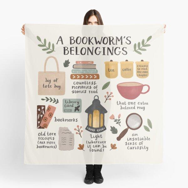 A Bookworm's Belongings Scarf