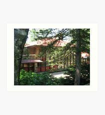 Hillside Home School, Spring Green, WI Art Print