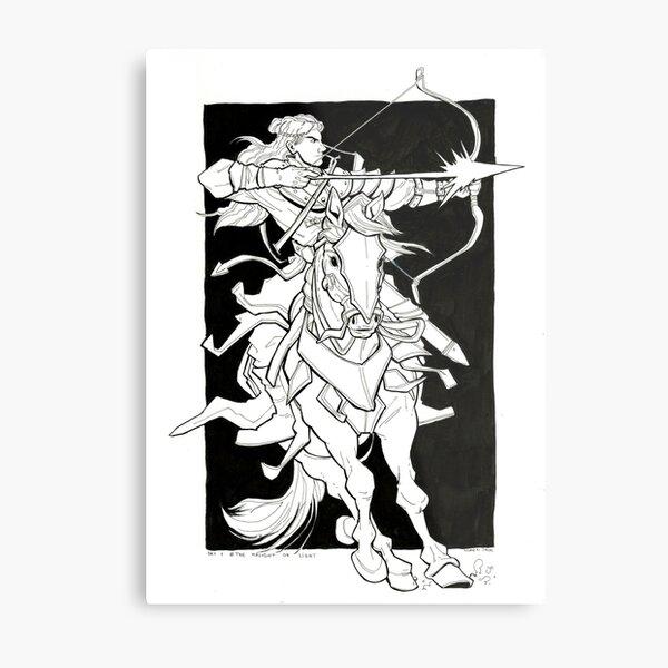 The Knight of Light Metal Print