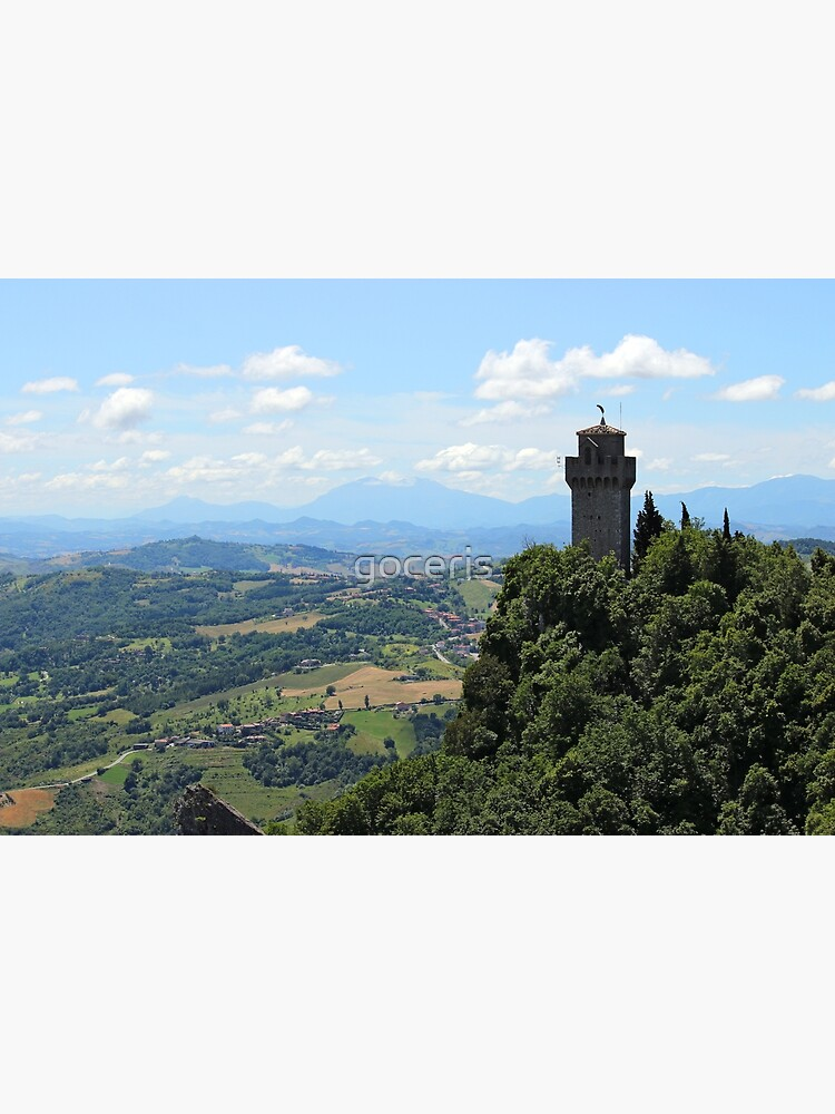 Montale The Third Tower San Marino Landscape Greeting Card By Goceris Redbubble