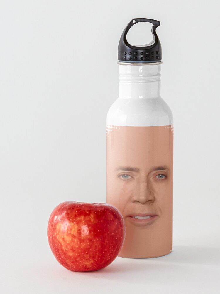 Alternate view of nicolas cage - Face Water Bottle