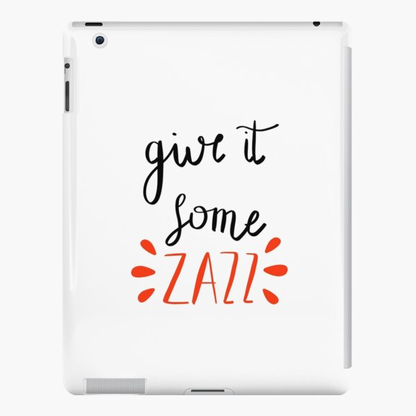 zazz lyrics sticker iPad Snap Case