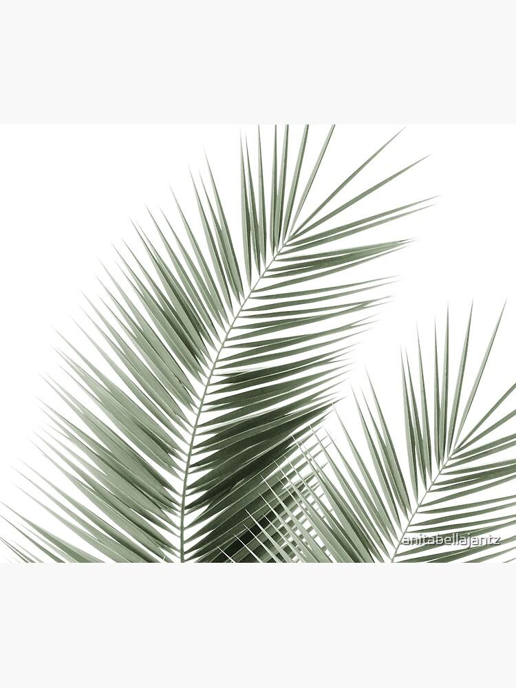 Olive Green Palm Leaves Dream - Cali Summer Vibes #1 #tropical #decor #art by anitabellajantz