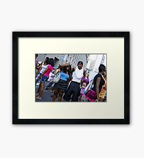 Crowded But Still Having Fun Framed Print
