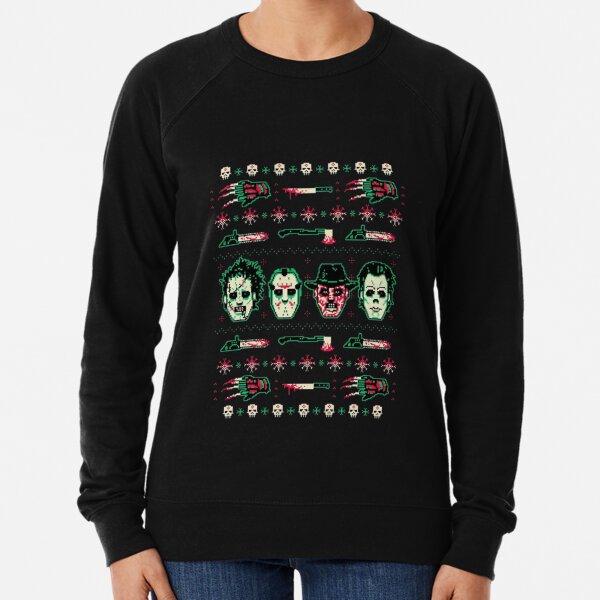 Horror Christmas Sweater Lightweight Sweatshirt