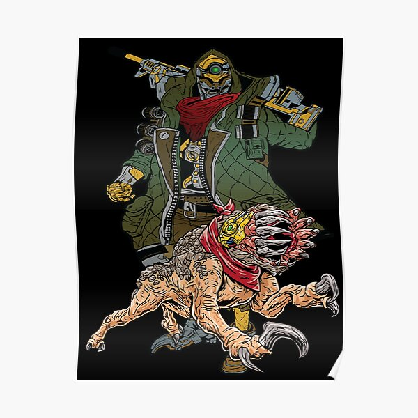 FL4K The Beastmaster With Guard Skag Borderlands 3 Rakk Attack! Poster