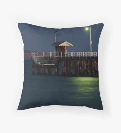 Twilight, Pt Lonsdale Pier Throw Pillow