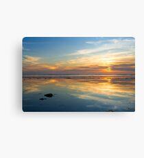 Prisme et Coucher de soleil en bord de mer © SolSo Photografée Impression sur toile