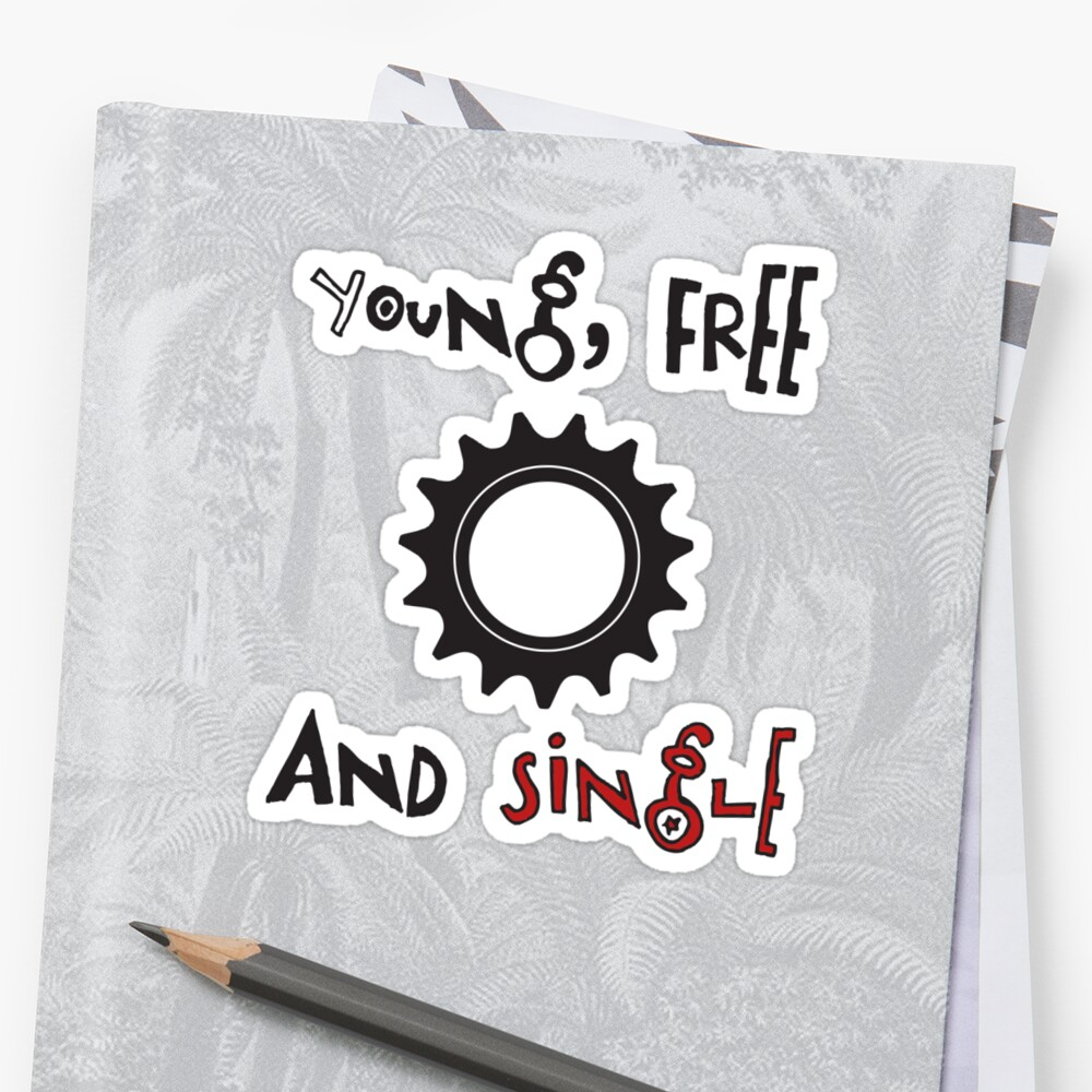 Young Free And Single Fixed Gear Tee by Ipedal