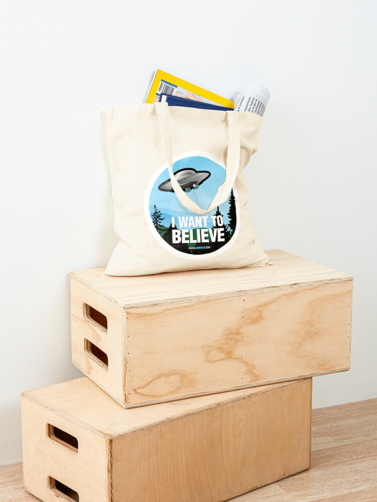 Alternate view of I Want to Believe Tote Bag
